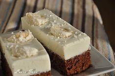 Prajitura de ciocolata cu crema de nuca de cocos | Retete culinare cu Laura Sava - Cele mai bune retete pentru intreaga familie Cheesecake, Pudding, Cooking, Mai, Sweet, Desserts, Cakes, Foods, Drinks