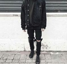 fashion // black // grunge // androgynous