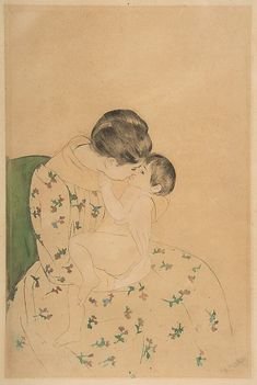 Mary Cassatt, Mother's Kiss