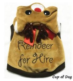 Vêtement+de+Noel+pour+chien.+Sweat+Reindeer+For+Hire+PETLONDON+pour+chien.+déguisement+de+Noel.