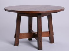 Stickley Brothers Round Coffee Table. Signed. Refinished. Cutdown.