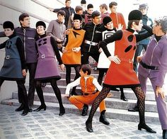 1960s Pierre Cardin space age fashions.