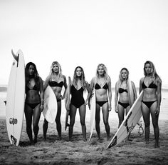 Team Roxy...wishing I could surf half as well as these women.