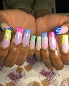 30 cute nail designs you need to copy immediately 050 Glitter Gel Nails, Stiletto Nails, Acrylic Nails, Acrylics, French Manicure Designs, Cute Nail Designs, Cute Nails, Pretty Nails, Girls Nails