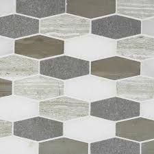 Anatolia Soho Glossy Arabesque Porcelain Mosaics In White