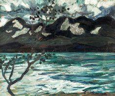 Fjällsjö, Mountain Lake in the North of Sweden by Helmer Osslund Mountain Art, Mountain Landscape, Landscape Art, Landscape Paintings, Jackson Pollock, Paintings I Love, Art For Art Sake, Contemporary Paintings, Art Boards