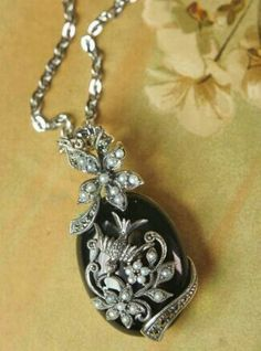 Flight By Night Black Onyx Pendant from Victorian Trading Co.