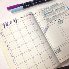 Potential monthly layout. Sharing with you my Bullet Journal Set Up for May.: