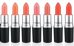 MAC All About Orange Lipsticks / ShopMAC. great website for buying MAC makeup that's been sold out or hard to find