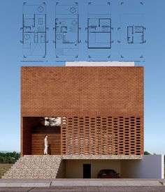 Cotaparedes Arquitectos - Posts You are in the right place about industrial facade Here we offer you the most beautiful pictures about the parametric facade you are looking for. When you examine the C Brick Architecture, Architecture Portfolio, Architecture Details, Interior Architecture, Brick Design, Facade Design, Exterior Design, Archi Design, Building Facade