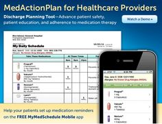 MyMedSchedule.com helps you create medication schedules and reminds you when it's time to take your medications. Schedules are easy to create and update Print in English or Spanish Get reminders by email or text message Access or update schedules from iPhone and Android devices with MyMedSchedule Mobile  so great with mental illnesses and elderly