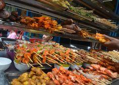 Street Food in Yangon Chinatown on 19th Street (Myanmar)