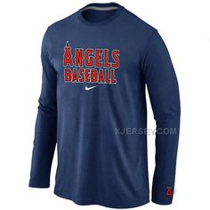 http://www.xjersey.com/los-angeles-angels-long-sleeve-t-shirt-dblue.html Only$30.00 LOS ANGELES ANGELS LONG SLEEVE T SHIRT D.BLUE #Free #Shipping!