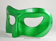 Male Green Lantern Leather Mask Halloween Cosplay Costume Geek Marvel Accessory