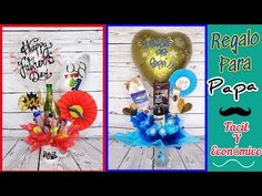 REGALO ECONOMICO Y FACIL PARA PAPA / Arreglo con Cerveza, Globos, y Dulces para día del Padre - YouTube Cool Diy, Christmas Bulbs, Cool Stuff, Holiday Decor, Party, Candy Arrangements, Male Birthday Gifts, Inexpensive Gift, Surprise Gifts