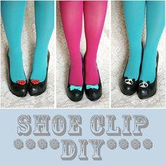 DIY Shoe Clips by Katie from Skunkboyblog.com! - http://www.skunkboyblog.com/2011/09/shoe-clips-diy.html