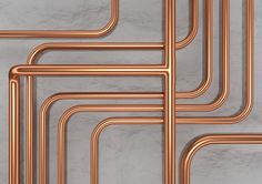 Copper Pipes - CGI giclée fine art print on on semi gloss paper - Richard McIntosh
