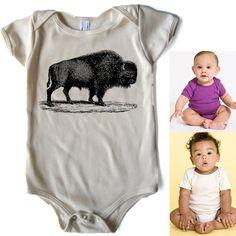 Bison American Apparel   Organic Baby Onesie. $16.95, via Etsy.