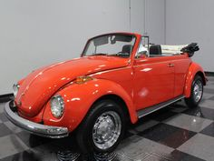 18K 1972 Red VW Beetle - Volkswagen updated the perennial Beetle in the early '70s, and the Super Beetle was the result.