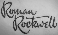 Type and Lettering: Roman Rockwell from Ken Barber