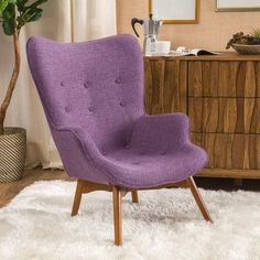 Langley Street Canyon Vista Mid-Century Accent Chair Upholstery: