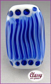 GJCG Blue Cell-112AF | ClassyArtGlass - Jewelry on ArtFire