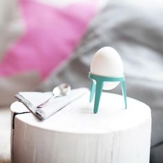 Egg Holder 4 Pieces Brainstream Drop Egg Cup Colour Lime Green