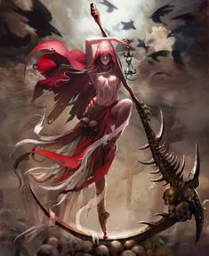 Mainly posting science fiction and fantasy stuff i find cool Dark Fantasy Art, Fantasy Art Women, Fantasy Kunst, Fantasy Girl, Fantasy Artwork, Dark Art, Fantasy Character Design, Character Art, Grim Reaper Art