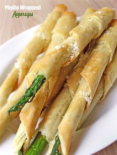Phyllo Wrapped Asparagus with Parmesan | www.sugarapron.com | #Asparagus wrapped in #phyllopastry #dough will wow a crowd.