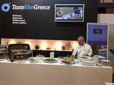 Sial World Food Exhibition in Paris. The Aldemar team of Chefs cooking for Greece @ the  stand of the Hellenic Foreign Trade Board.