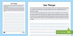 Take the stress out of lesson planning with Twinkl's Australian teaching resources and activities. Made for EYLF to Year 6 and covering all core subjects. Ian Thorpe, Handwriting Activities, English Resources, Year 6, Australian Curriculum, Activity Sheets, Classroom Displays, Stressed Out, Phonics