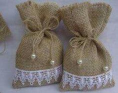 Handmade ideas from jute.❤ This tym lets celebrate an eco frndly diwali.lets say no to plastics and firecrackers❤ Instead of polythene use this jute bags, or cusion for beautiful decoration. Lavender Crafts, Lavender Bags, Lavender Sachets, Sewing Crafts, Sewing Projects, Burlap Projects, Creation Deco, Shabby Chic Crafts, Wedding Favor Bags