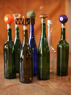 Quirky + Clever DIY Wine Stoppers >> http://blog.diynetwork.com/maderemade/2013/11/19/10-cute-and-clever-diy-stocking-stuffers?soc=pinterest