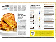Breakfast - Erin Jang | Portfolio Food Magazine Layout, Bacon Sandwich, Publication Design, Tomato Sauce, Editorial Design, Layouts, Breakfast, Design Ideas, Illustration