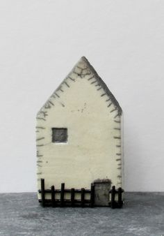 . Clay Houses, Ceramic Houses, Miniature Houses, Art Houses, Wooden Houses, Kids Canvas Art, Kitsch, House Ornaments, Painted Boards