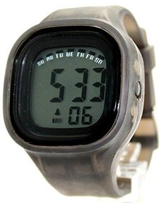 DW358C Black Watchcase Chronograph Alarm Silicone Gray Band Unisex Digital Watch >>> Learn more by visiting the image link.(It is Amazon affiliate link) #beautiful
