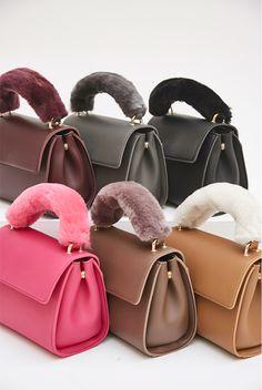 9043d0d878 Fur Handle Mini-Handbag - I know you wanna kiss me. Thank you for