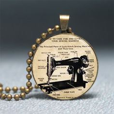 sewing machine pendant!!