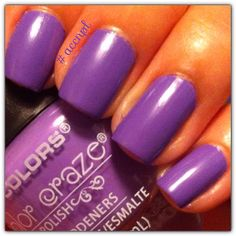 Two coats and no top coat of Purple Passion by LA Colors. #LAColors #nails #nailpolish #swatches .    Instagram: accnpl