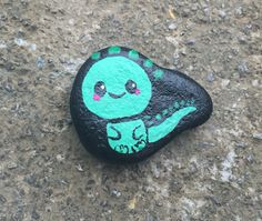 Pet Dragon & Bubbles Stone Painting Underwater Pet by StitchHTFan