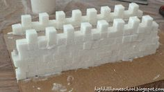 Highhill Homeschool: Great Wall of China made out of sugar cubes