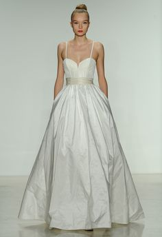 This Amsale dress reminds me of the wedding dress in the movie 27 Dresses -- one of my favorites!