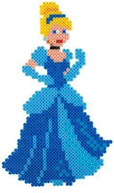 Cinderella - Palace Pets Hama beads - 7912 HAMA Perler Bead Designs, Hama Beads Design, Pearler Bead Patterns, Diy Perler Beads, Perler Bead Art, Perler Patterns, Pearler Beads, Fuse Beads, Hama Beads Disney