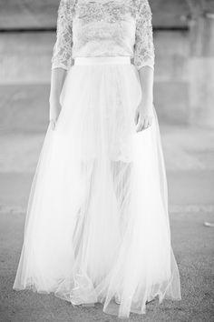 short dress + long tulle skirt = fashion heaven. Dress by http://idasjostedt.com/  Photography By / http://smallpigart.se
