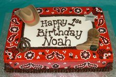 Western Theme boy's birthday cake