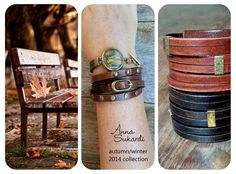 Anna Sukardi is all about fall fashion ~ distressed leather ~ neutrals ~ metallics ~ muted colors ~ textured brass ~ Check out our fall collection at www.annasukardi.com