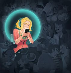 Me, My Cell and I by Kim Smith, via Behance