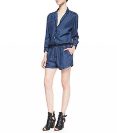 How To Wear A Romper This Summer via @WhoWhatWear