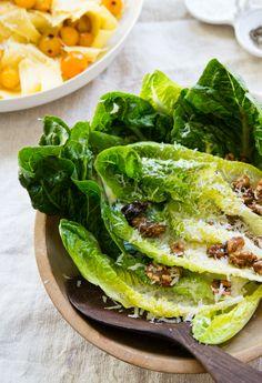 simple and delicious...Roberta's Romaine, Candied Walnuts, Pecorino salad #goopcookbookclub