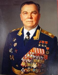 Marshal of Aviation Ivan Kozhedub. Soviet WWII and Korea fighter pilot. Hero of the Soviet Union earned three times.